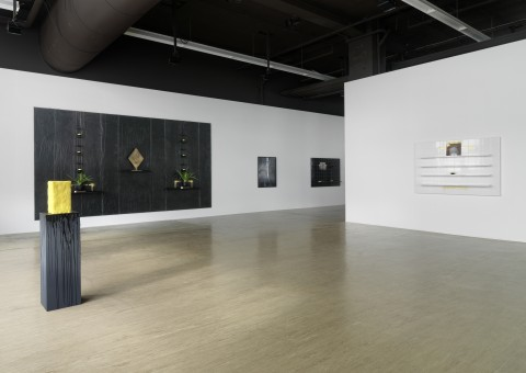 Rashid Johnson 2010 There are Stranger Villages Exhibition view Galerie Guido W. Baudach