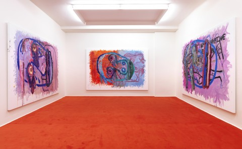 Bjarne Melgaard 2006 The Night Within Us! Exhibition view Galerie Guido W. Baudach