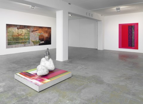 Markus Selg 2014 Sublimation / Simulation (Shadow of the Eye) Exhibition view Galerie Guido W. Baudach