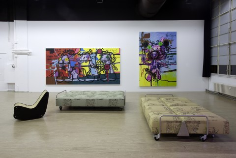 Bjarne Melgaard A Kidwhore In Manhattan – A Novel Exhibition view Galerie Guido W. Baudach